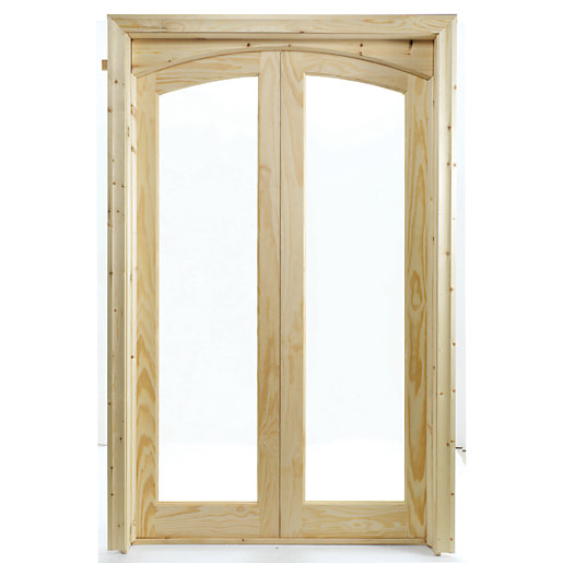 Wickes newland internal french doors glazed 2 lite 2007 x for 4ft french doors exterior