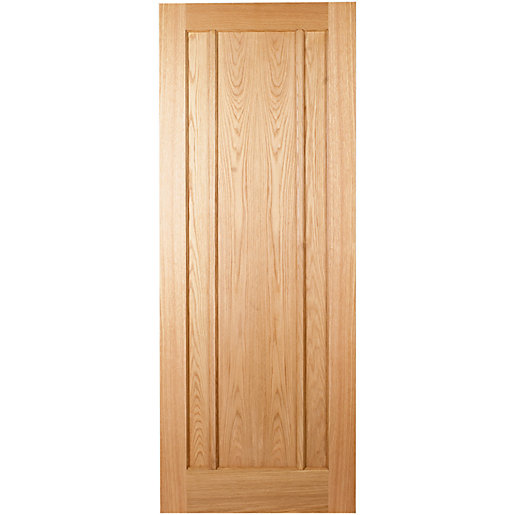 wickes york internal oak veneer door 3 panel 1981 x 762mm. Black Bedroom Furniture Sets. Home Design Ideas