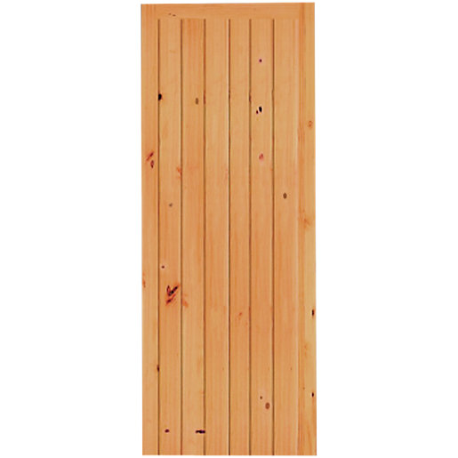 Wickes keswick internal cottage softwood door knotty pine for Door viewer wickes