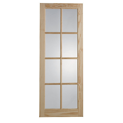 Wickes newland internal glazed door 8 lite 1981x686mm for Door viewer wickes