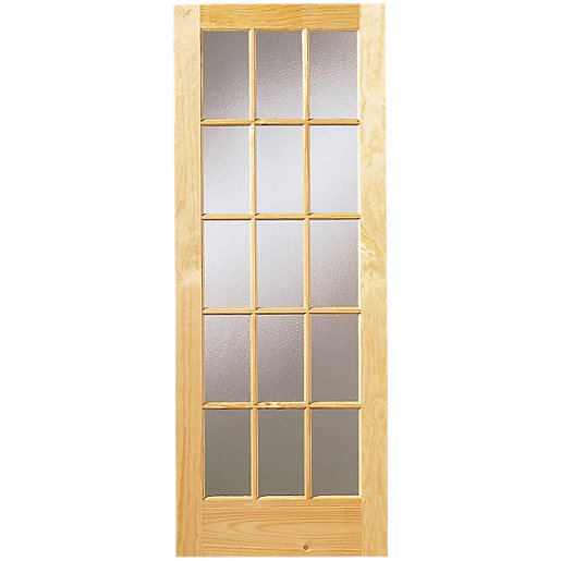 Wickes Whitby Internal Glazed Door Pine 15 Lite 1981x762mm | Wickes.co.uk