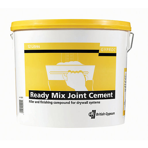 Gyproc Ready Mixed Joint Cement 12l Wickes Co Uk