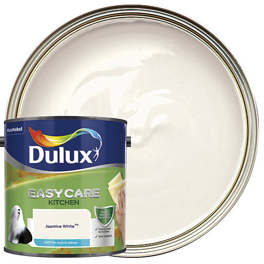 Dulux Jasmine White Matt Kitchen Paint