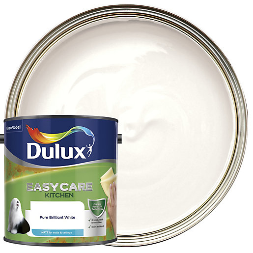 White Kitchen Emulsion dulux kitchen+ matt emulsion paint - pure brilliant white 2.5l