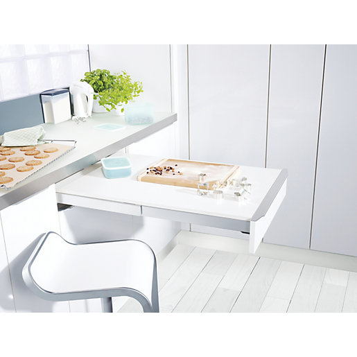 Wickes extending concealed pull out table - Tablette coulissante cuisine ...