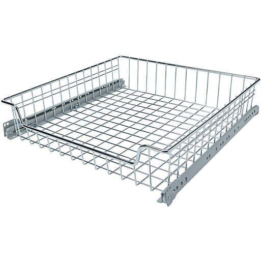 Wickes pull out storage baskets set 500mm for Wickes kitchen cabinet sizes