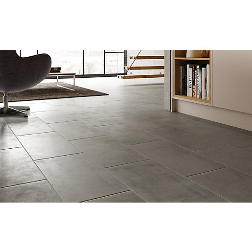 Mouse over image for a closer look. Wickes Manhattan Grey Porcelain Tile 600 x 300mm   Wickes co uk