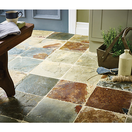 Wickes Slate Natural Stone Tile 300 x 300mm. Wickes Slate Natural Stone Tile 300 x 300mm   Wickes co uk