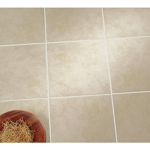 Wickes urban beige ceramic tile 330 x 330mm for Ceramic tile flooring designs kitchen