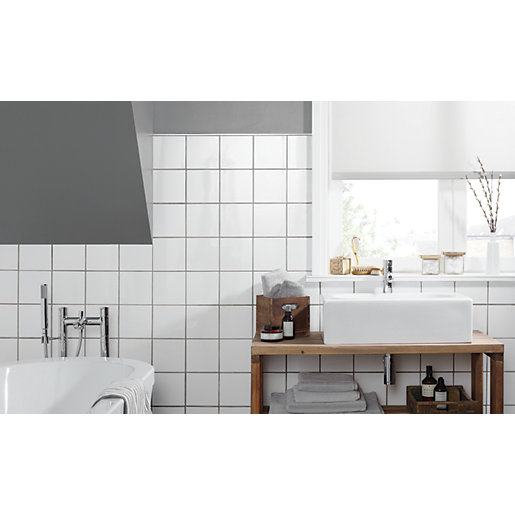 Bathroom Tiles S wickes white gloss ceramic tile 150 x 150mm | wickes.co.uk