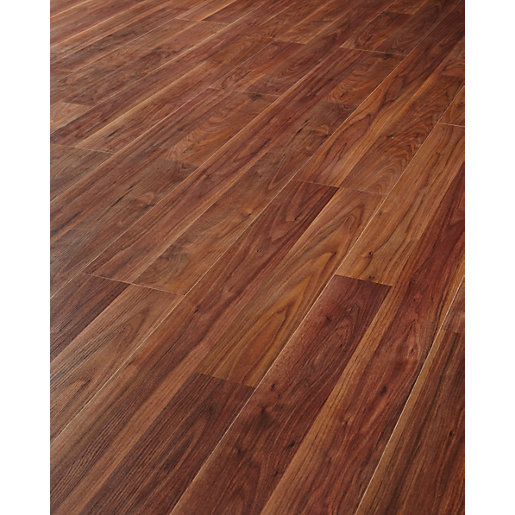 Wickes african walnut laminate flooring for Walnut laminate flooring