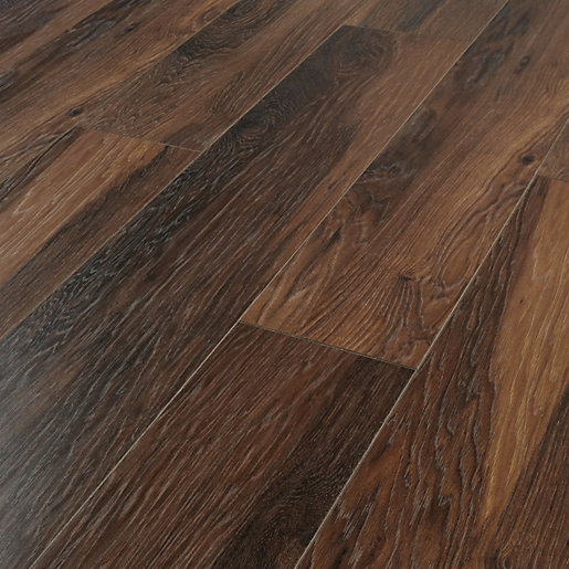 Wickes Reynosa Dark Hickory Laminate Flooring