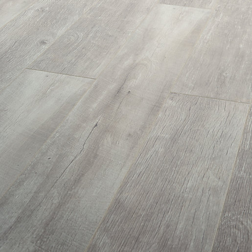 Wickes Salerno Oak Grey Laminate Flooring Wickes Co Uk