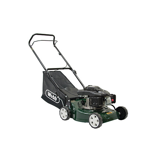 Webb 40cm Petrol Rotary Lawnmower Wickes Co Uk
