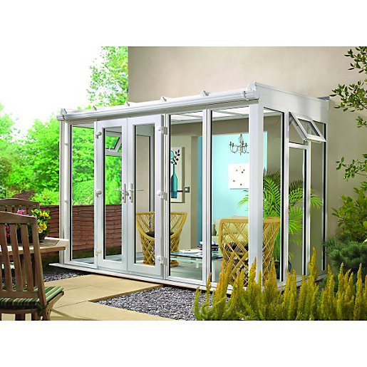 Wickes Lean To Roof Full Glass Conservatory 13 X 10 Ft