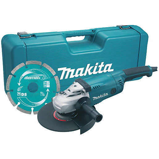 Makita 2000w 230mm Angle Grinder 110v Ga9020kd Wickes Co Uk