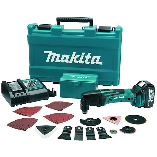 makita dtm50rm1j3 18v lxt li ion cordless multi tool with 30 accessories. Black Bedroom Furniture Sets. Home Design Ideas