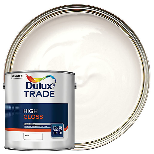 Dulux Trade High Gloss Paint White 2 5l