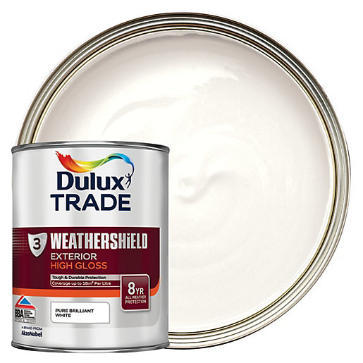 Dulux trade high gloss paint products kellaway building supp dulux trade trade pure brilliant - Wickes exterior gloss paint set ...