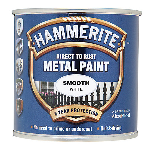 hammerite metal paint smooth white 250ml. Black Bedroom Furniture Sets. Home Design Ideas