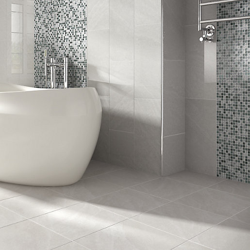 Bathroom Tiles Wickes : Wickes glass mosaico mosaic tile mm