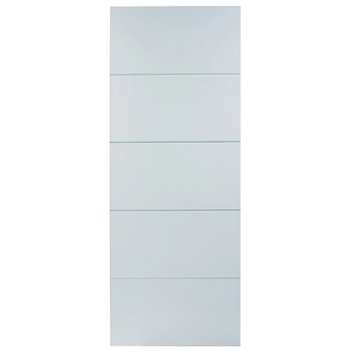 wickes halifax internal moulded door white primed 5 panel 1981x762mm