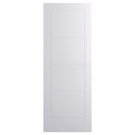 wickes kent internal moulded door white primed 4 panel. Black Bedroom Furniture Sets. Home Design Ideas