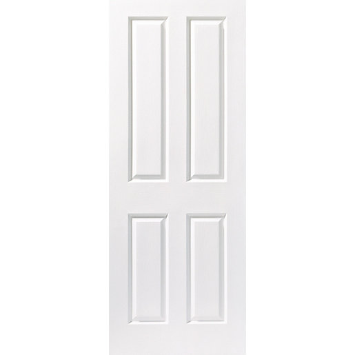 Wickes stirling internal moulded door white finished 4 for Moulded panel doors