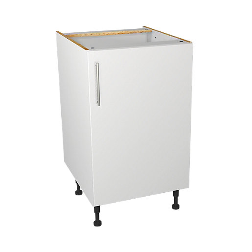 Wickes orlando white base unit 500mm for Kitchen cabinets 500mm