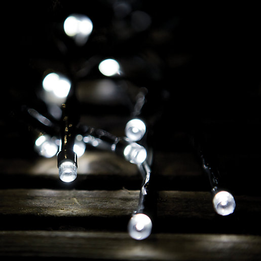 Outside Lights Wickes: Wickes LED Solar String Lights Pack 100