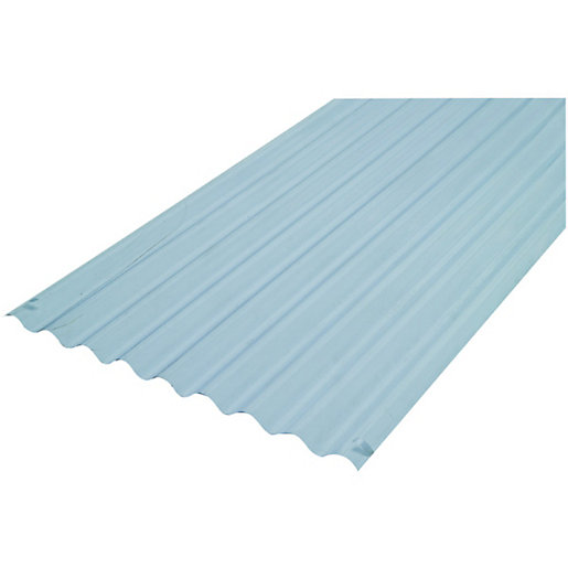 Wickes PVCu Clear Corrugated Sheet 660 X 3000mm