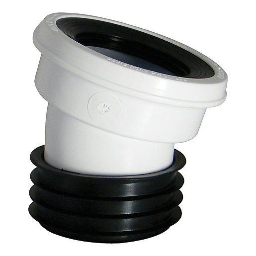 Wickes 110mm White 14 Deg Wc Pan Connector Wickes Co Uk