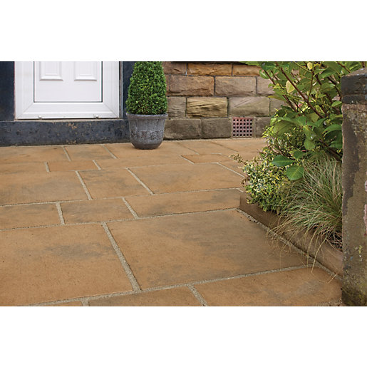 Marshalls Firedstone Autumn 600 X 600 X 38mm Paving Slab