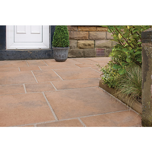 Marshalls Firedstone Autumn Mixed Size Paving Patio Pack
