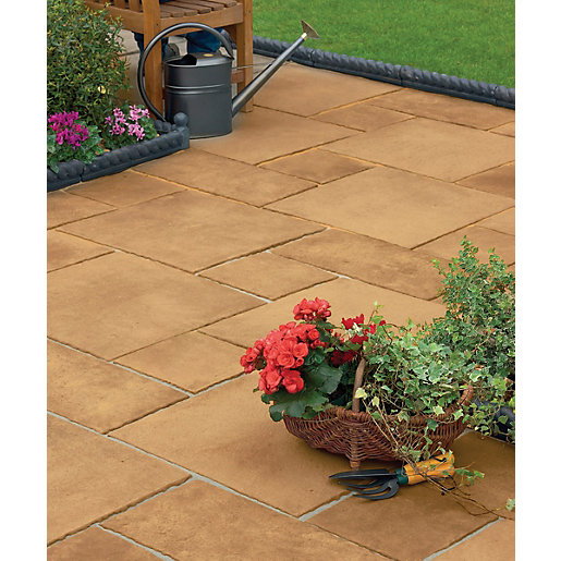 Marshalls Firedstone Sunrise 600 X 600 X 38mm Paving Slab
