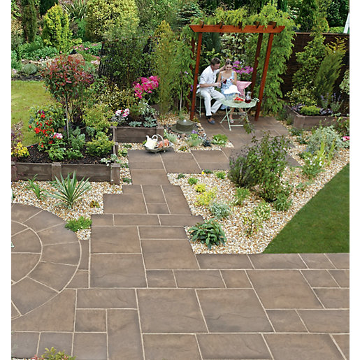 Marshalls Heritage Riven Weathered Yorkstone 600 X 600 X 38mm Paving Slab    Pack Of 22