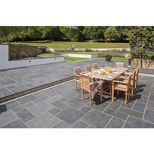 Marshalls Natural Slate Riven Midnight Blue 600 X 295 X 20mm Paving Slab    Pack Of