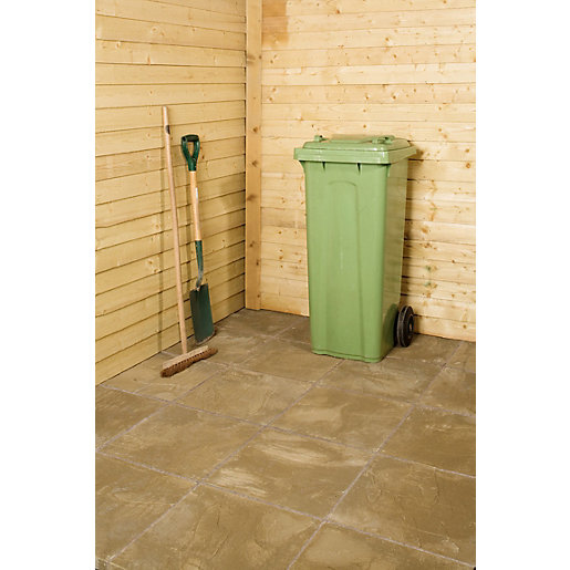Marshalls Pendle Riven Buff 600 X 600 X 38mm Utility Paving Slab