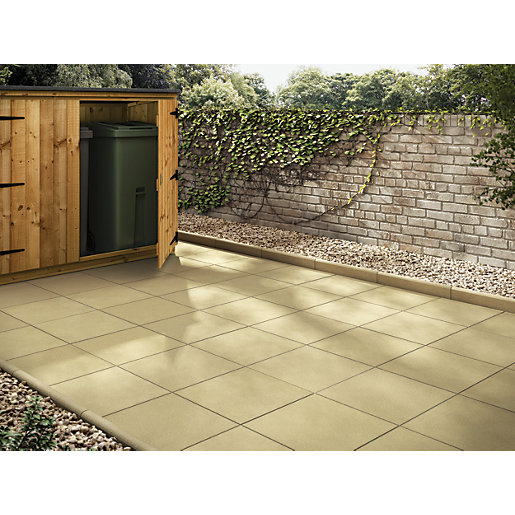 Lovely Marshalls Richmond Smooth Buff 600 X 600 X 38mm Utility Paving