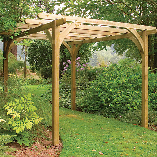 forest garden ultima pergola kit 2 7 x. Black Bedroom Furniture Sets. Home Design Ideas