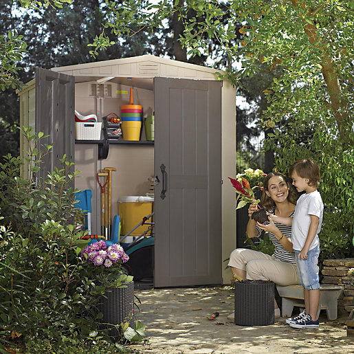 Keter plastic factor shed 6x6 for Garden shed 6x6