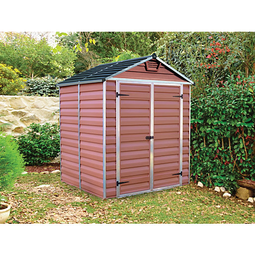 palram skylight amber shed 6 x 5 ft