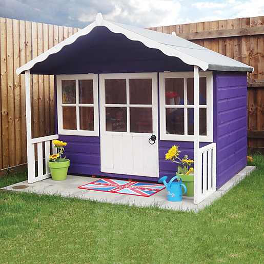 wickes pixie timber playhouse with veranda 6 x 5 ft - Garden Sheds With Veranda