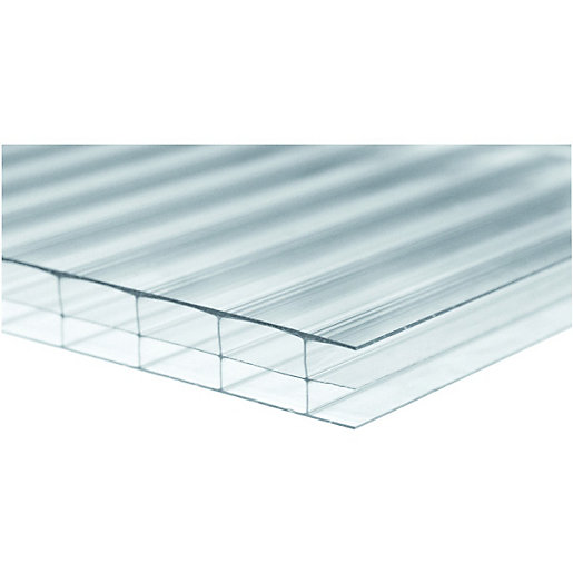 Wickes 16mm Triplewall Polycarbonate Sheet 980 X 4000mm