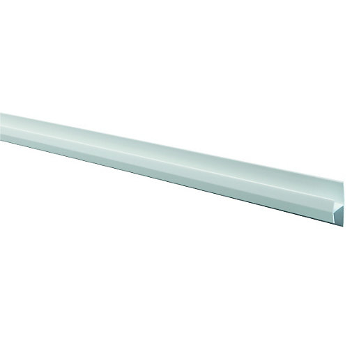 Wickes Pvcu White Soffit Butt Joint Trim 2500mm Wickes Co Uk