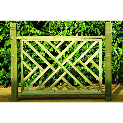 Wickes contemporary wooden deck panel mm light