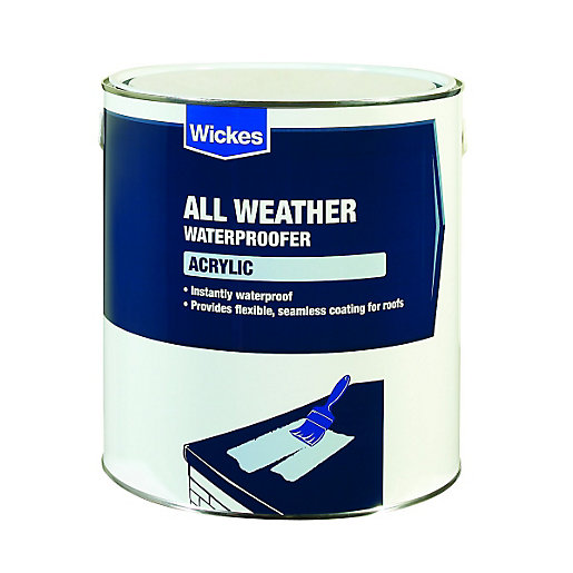 Wickes Acrylic High Performance Roof Waterproofer - 4L ...