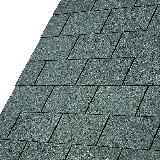 Iko armourglass slate grey square shingles 3m2 pack 21 for Roofing material options