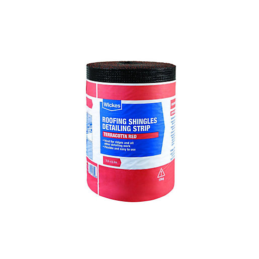 Wickes Roofing Shingles Detailing Strip Red 7 5 X 0 3m