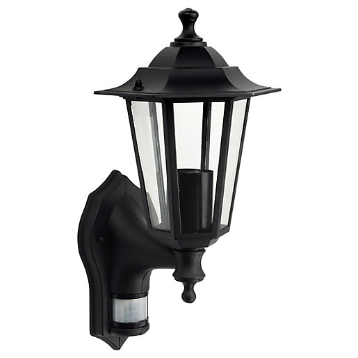 Wickes Black PIR Wall Lantern - 60W Wickes.co.uk